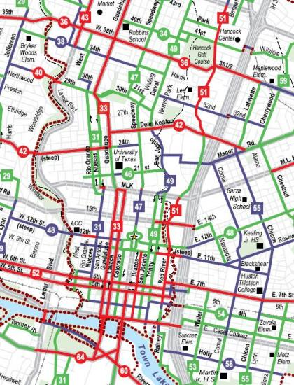 Map Program Austin Tx Austin, Texas Bicycle Map | Electric Avenue Scooters | Austin, TX
